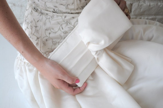 Bridal Clutch - The Christine Clutch - Ivory Satin