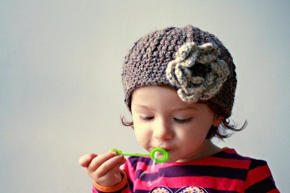 Little Miss Frilly tweed flower cloche U choose size SHIPPING SPECIAL