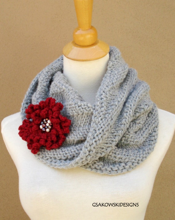 Cecily Chunky Cowl-Silver Grey