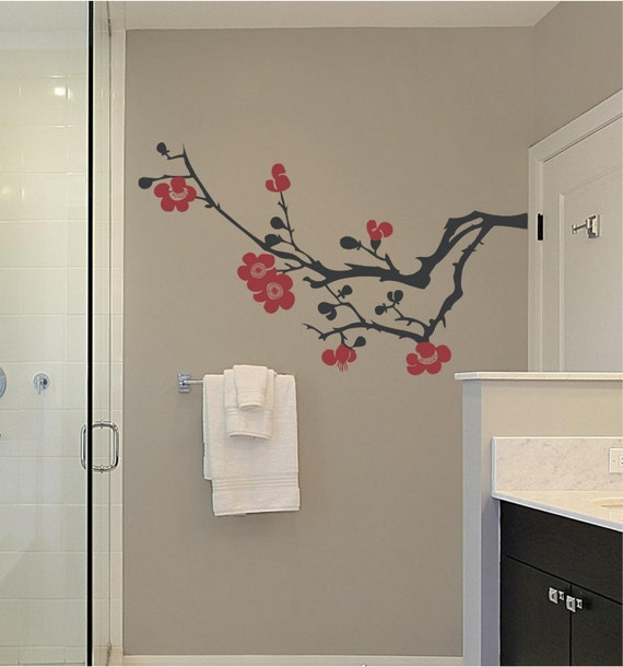 Tree Branch Magnolia New Bathroom Custom Vinyl Decor Wall Lettering Words Quotes Decals Art Custom Willow Creek Signs