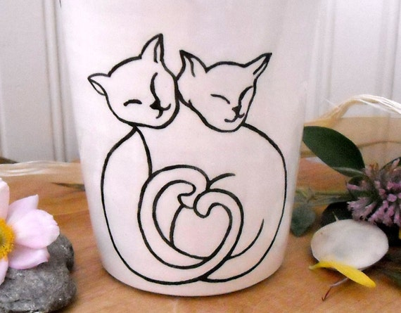 MEOW PURR - Gorgeous Kitty Cup/Vase