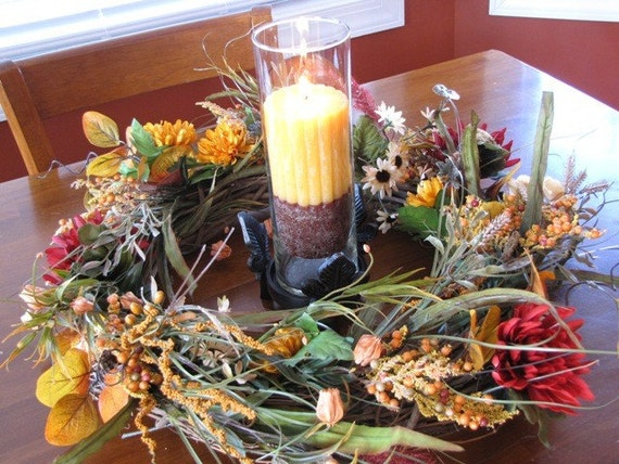 Autumn Wreath & Centerpiece
