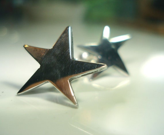 supernova stud earrings sterling silver