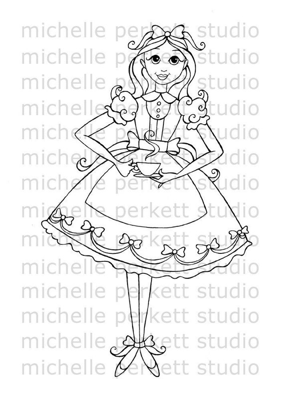DIGITAL STAMP - ALICE'S TEA PARTY FOR ONE