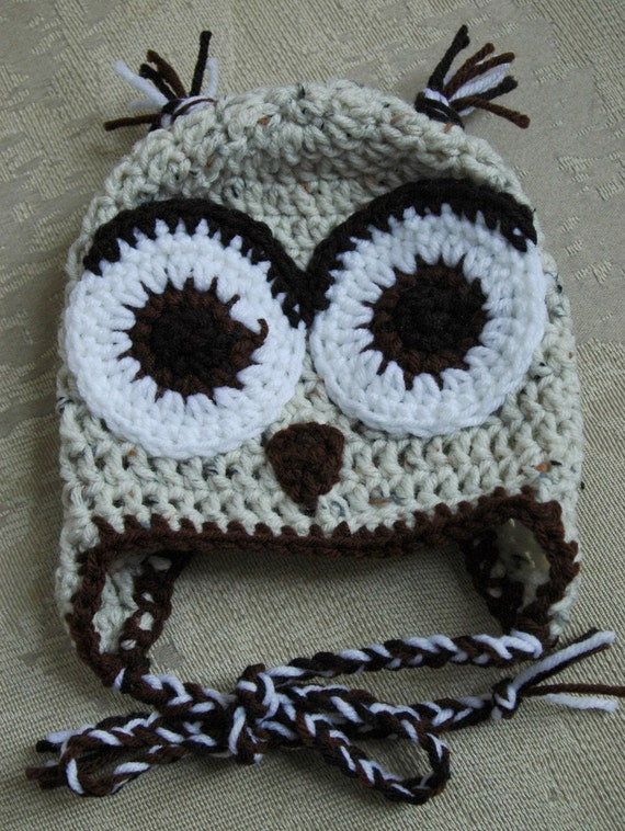 Owl Hat  - completely customizable - You pick size and color