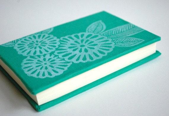 Hand block printed hardcover journal
