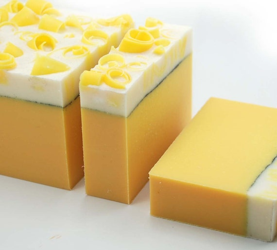 Sweet Lemon Cream Soap Loaf, 2 pounds Cold Process Soap