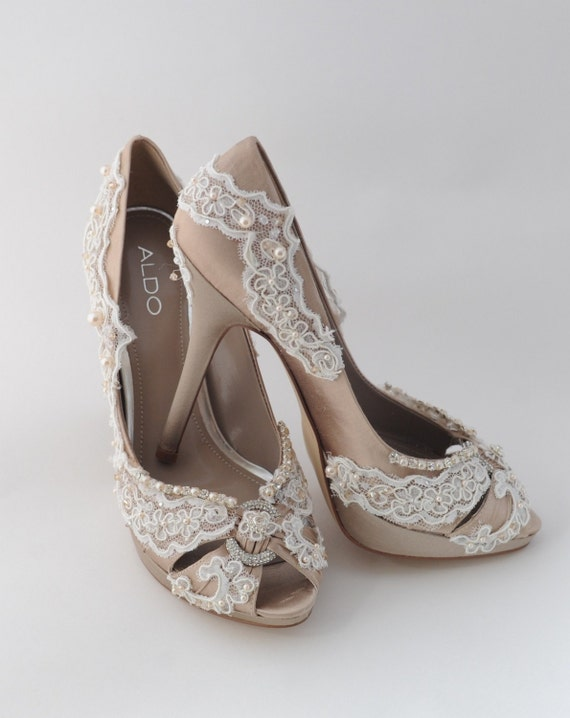 Wedding Day Embellished Bridal Shoes Custom Order... One Of A Kind...Over 100 Colors To Choose From