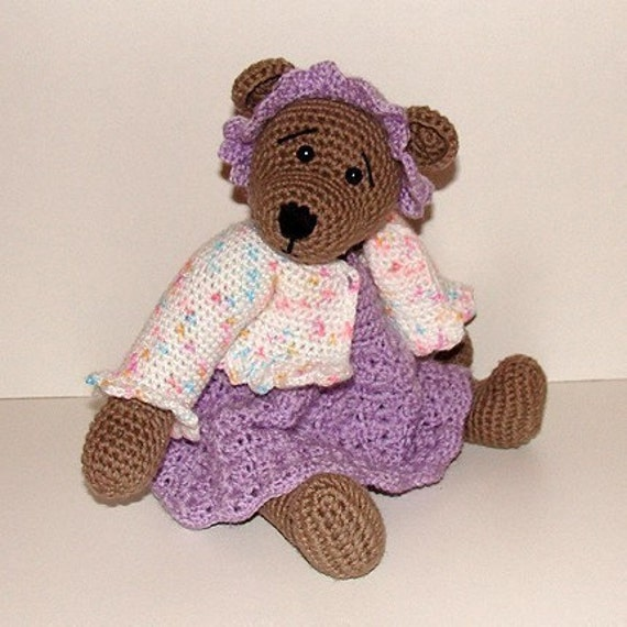 PDF Crochet Pattern - 10 inch Bear and Polar Bear Outfits nr 2