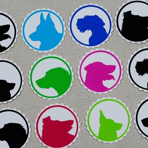 Dog Silhouette Tags