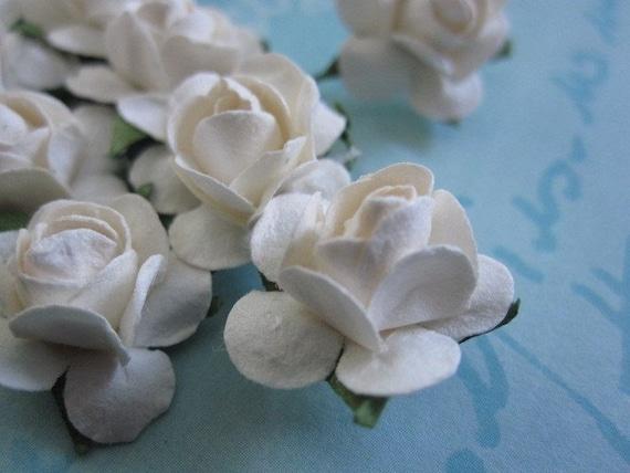 144 Mini - Белые цветы Бумага - Свадебные приглашения и партия выступает