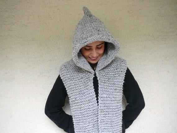 Light Gray Tweed Blended Brown - Beige - Black Hood