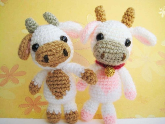 pdf  amigurumi crochet pattern cow  welcome to by jennyandteddy from etsy.com