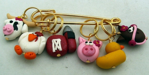 Farmville stitch markers