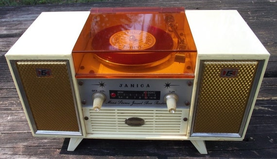 Retro Vintage Janica Table Top Transistor  Radio Jewerly Box 1960s
