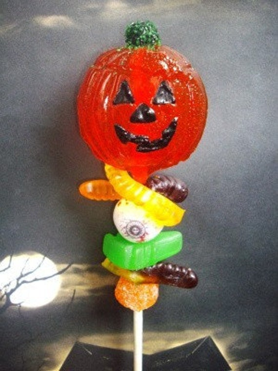 Halloween Pumpkin Lollipop Candy sucker Skewers