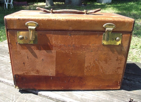 Great Vintage Leather Salesman Case