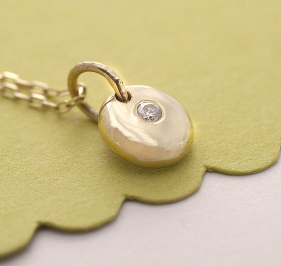 14K Gold Coin with Diamond Necklace by Tulajewelry on Etsy from etsy.com