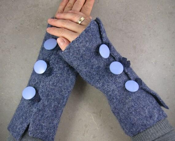 перчатки без пальцев - рука обогреватели - без пальцев, рукавицы - руку манжет - в голубовато - tbteam therougett