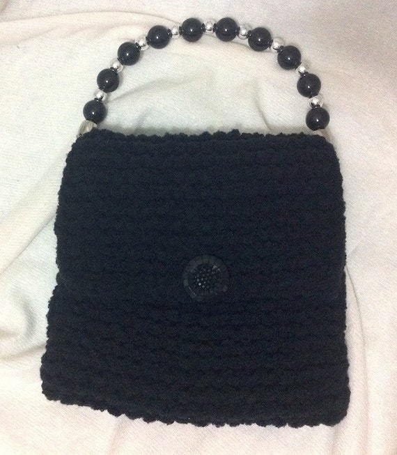 Black Knit Evening Bag