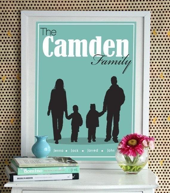 Custom Family Silhouette Art