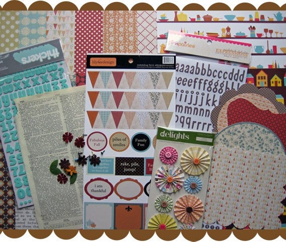 Scrapbook Kit with Lily Bee Catching Fall and American Crafts- November