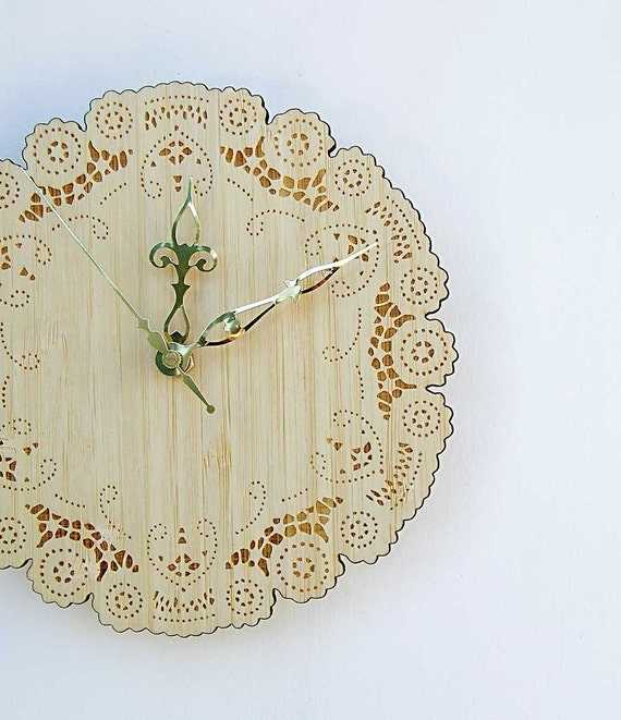 Wooden Doily Wall Clock