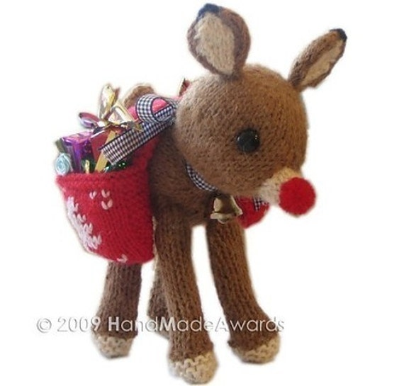 CHRISTMAS RUDOLPH REINDEER with SADDLEBAG full of Presents CROCHET PATTERN pdf EMAIL