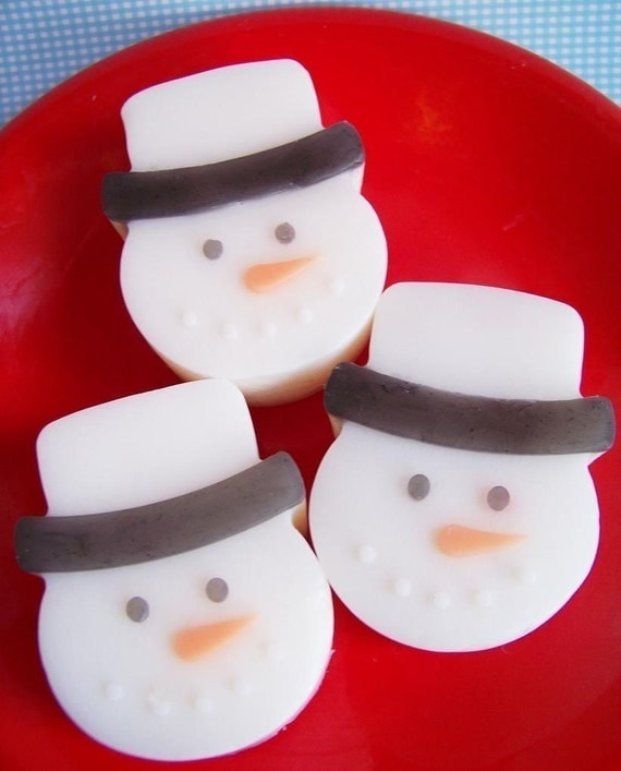 Candy Cane Snowman Soap