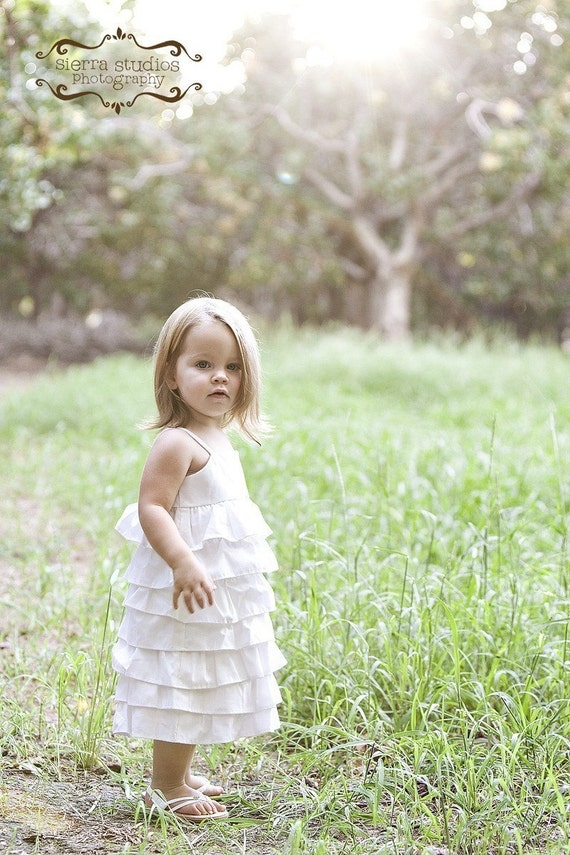 Beautiful Organic Ivory Ruffle DressNB 3m 6m by dressbabybeautiful
