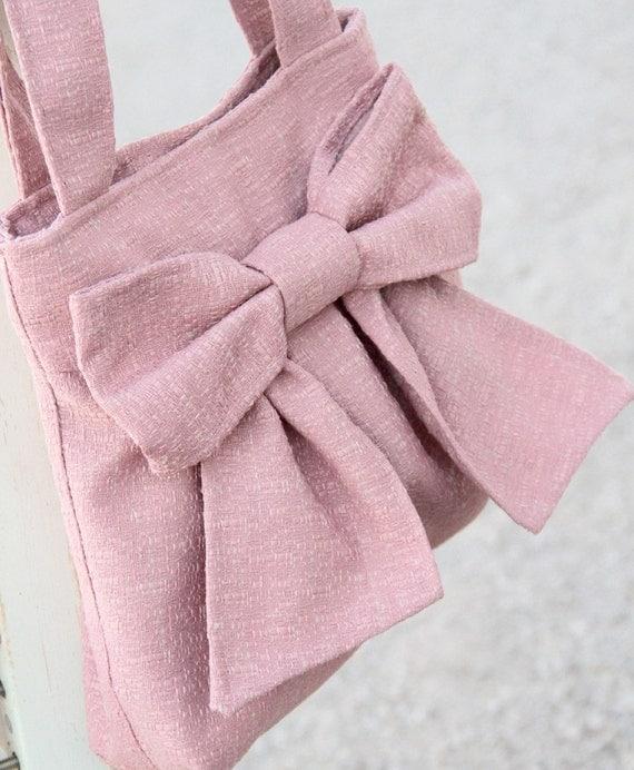 Dusty.Rose.Carpet.Bag w/ Double Handles