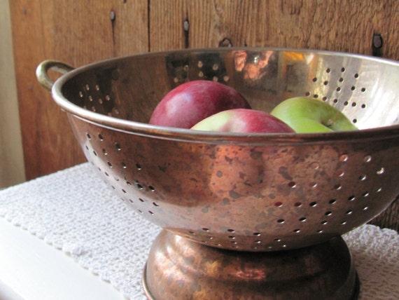 Copper Plate Colander