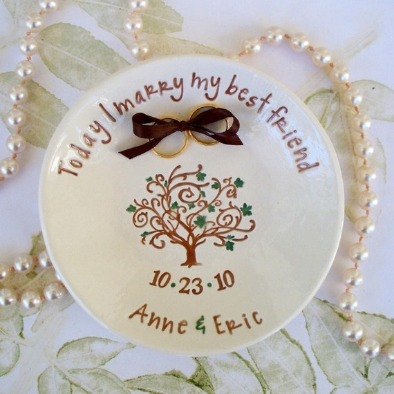 Custom Ring Bearer Keepsake Bowl - Wedding Tree