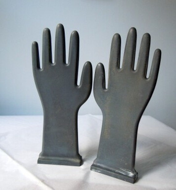 Vintage hands clapping,  industrial glove molds