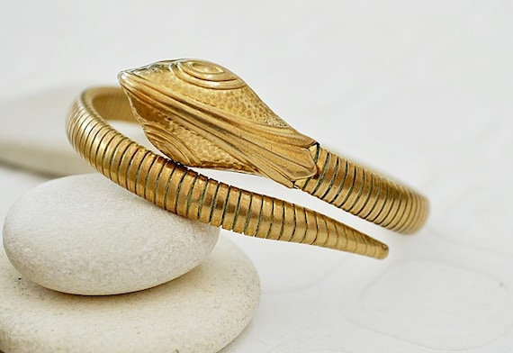 Vintage Egyptian Revival Snake Arm Bracelet