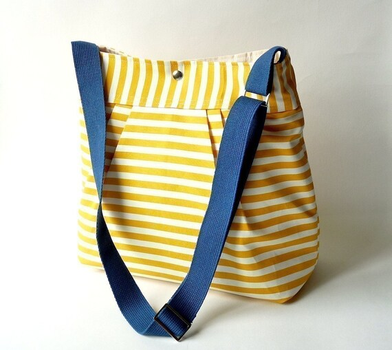 Water-resistant tent canvas lining THE STOCKHOLM YELLOW and white - 8 POCKETS