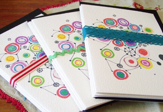 Circle cards Set of 3