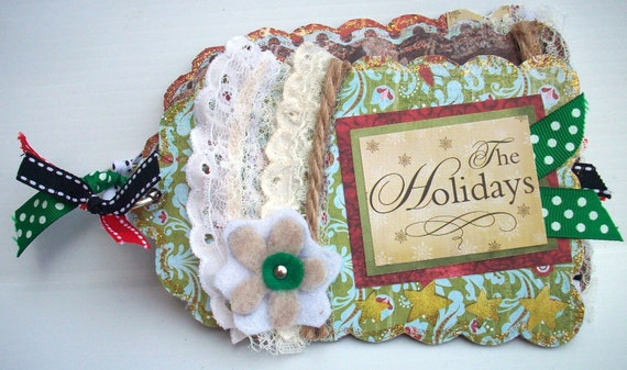 The Holidays Mini Chipboard Album