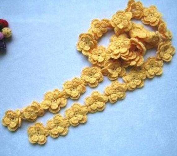 دستی قلاب دوزی زرد گلابی گل پشم شال - ساده مد