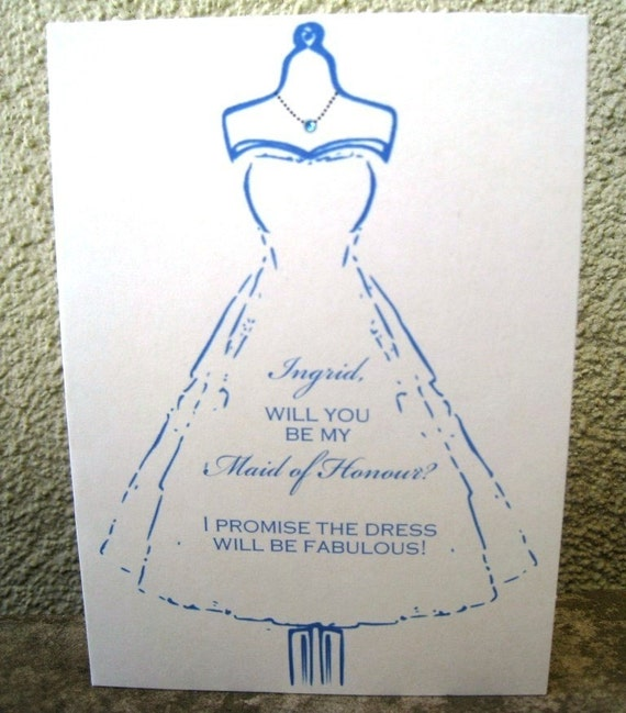 CUSTOM 'WILL YOU BE MY BRIDESMAID/MAID OF HONOR/MATRON OF HONOR' CARDS