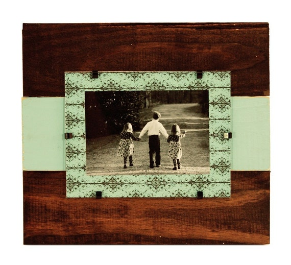 Small  Distressed Frame with Bow