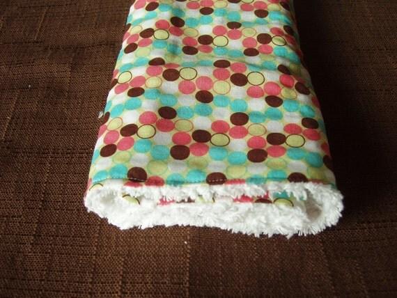 Burp towel Baby girl Chenille Backing