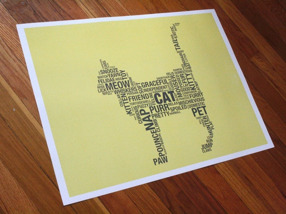 Cat Dictionary 2 (18 x 24 Poster Print)