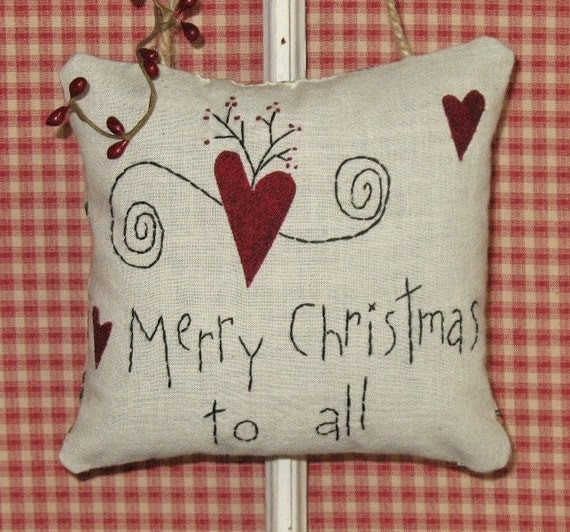 Merry Christmas Country Door Hanger Pillow by MockaMooseMarket ...