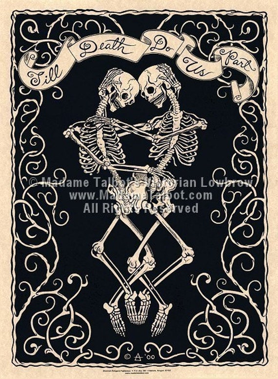 Madame Talbot's Victorian Lowbrow Till Death Do Us Part Valentine Poster