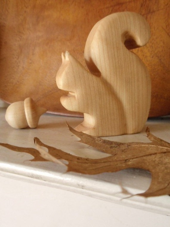 Mr Squirrel - Dear Sir May I Have An Acorn/ Wooden Waldorf Toy