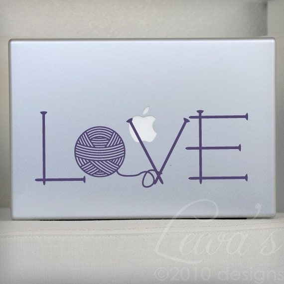 Knit Love Laptop / Macbook / Notebook Computer Decal Sticker