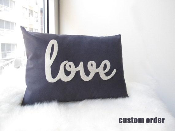 Light Teal Love Pillow