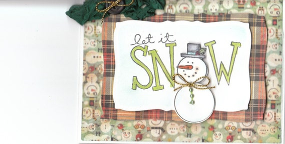 STAMPIN UP LET IT SNOW 3 D HANDMADE CHRITMAS CARD