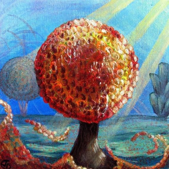 Autumn Tree Acrylic Painting